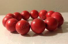 shiny red beads bracelet 1a