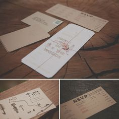 I love the woody feel to this stationary - Kraft paper is such a perfect material to use.