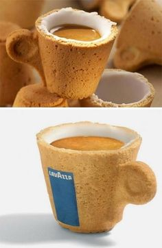 Creative eatable coffee cup 7-31. I'd just like it without the sugar.