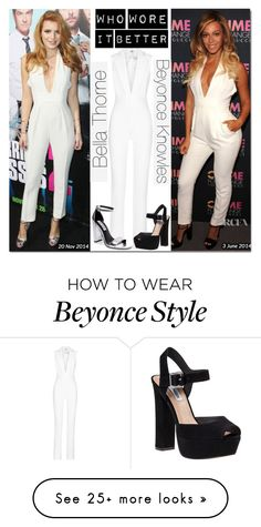 """""""Who Wore It Better? Bella Thorne or Beyonce Knowles"""" by asiyaoves on Polyvore featuring Gucci, Cushnie Et Ochs and Steve Madden"""