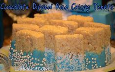 It's A Boy Baby Shower Ideas Extend your theme into the food! Chocolate Dipped Rice Crispy Treats http://www.lahuera.com/its-a-boy-baby-shower-ideas/