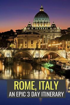 Only 3 days in Rome? This Rome itinerary will make the most of a weekend trip to Rome, from highlights like the Vatican to offbeat gems like hidden street art & local markets, this guide is full of Rome travel tips to help you skip the lines, avoid the cr Italy Travel Tips, Rome Travel, Travel Guide, Rome Hotels, Best Hotels, Budget Hotels, 3 Days In Rome, Rome Itinerary, Cities In Italy