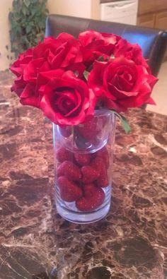 Valentine's Day centerpiece @Nikki Chapman