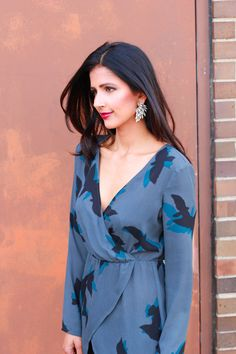Date night Style - T+J Designs earrings, Leith Blouse