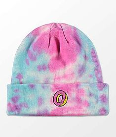 Finish off your winter street style with the Pink & Blue Tie Dye Beanie from Odd Future. In pink and blue tie dye with a classic Odd Future Donut embroidered on the front of the fold over cuff. Men's Beanies, Pink Beanies, Outfits With Hats, Cute Outfits, Bennies Hats, Beanie Outfit, Tie Dye Crafts, Tie Dye Outfits, Odd Future