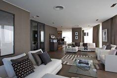 The Dark Grey Oak wide plank floor sets the tone in this chic city apartment. Wide Plank Flooring, Engineered Wood Floors, Oak Flooring, Best Interior Design, Interior And Exterior, Interior Decorating, Living Room Flooring, Living Rooms, Internal Doors