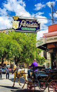 Die legendäre Floridita Bar in Havanna, Kuba