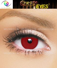 Blood red contact lenses that change your eye color red for Halloween