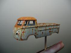 Fine rusting effects #modeltrainkits