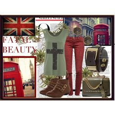 """London chick"" by ula-mansfeld on Polyvore"