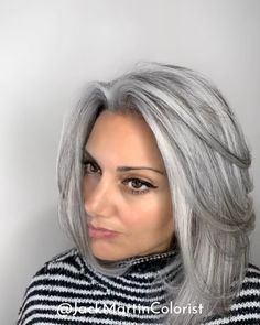 100 dark hair with heavy platinum highlights perfect when youre going grey page … – Going Gray Hair 2020 Grey Hair Video, Grey Hair Wig, Long Gray Hair, Lace Hair, Blonde Hair, Brown To Grey Hair, Grey Hair With Bangs, Grey Hair Over 50, Grey Hair Care