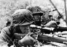 WWII Photo German Sniper Eastern Front 1942 Wehrmacht World War Two  WW2 / 2118