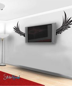 Vinyl Wall Decal Sticker ANGEL WINGS #324 | Stickerbrand wall art decals, wall graphics and wall murals.