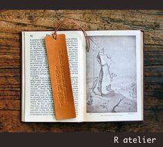 $13+ | R.atelier Bespoke Leather Bookmark | Make It Personal #bespokeleatherbookmark #leatherbookmark #leatherquotesbookmark #customleatherbookmarks #leathergifts
