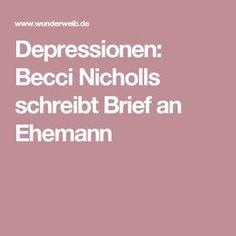 Depressionen: Becci Nicholls schreibt Brief an Ehemann