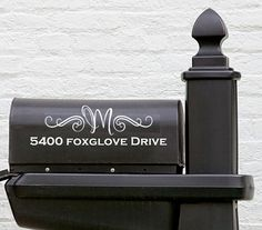 Modern Mailbox Whole Street Address with Initial by TheCraftyGeeks, $18.00
