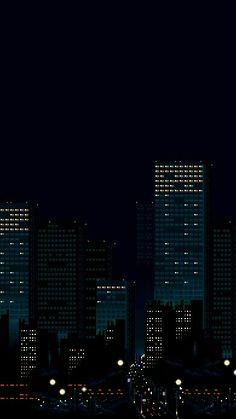 City Wallpaper, Dark Wallpaper, Galaxy Wallpaper, Building Illustration, Illustration Art, Neon City, Pixel Art, Arte 8 Bits, Amoled Wallpapers