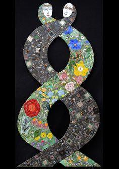 Mosaic painting by Russian artist Irina Charny