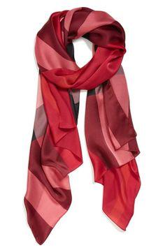 Nice and light for spring | Burberry Check Print Silk Scarf