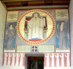 Beuron Mauruskapelle Fassadengemälde - Category:Gabriel Wüger – Wikimedia Commons
