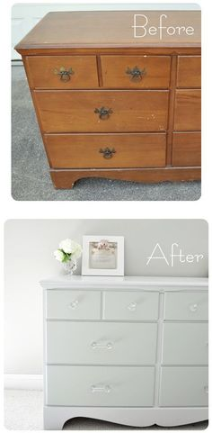 furniture restoration How to paint old furniture. This is literally one of the easiest to articles Ive read so far about re-painting your old stuff Painting Old Furniture, Refurbished Furniture, Repurposed Furniture, Furniture Projects, Furniture Making, Furniture Makeover, Home Projects, Diy Furniture, Furniture Design
