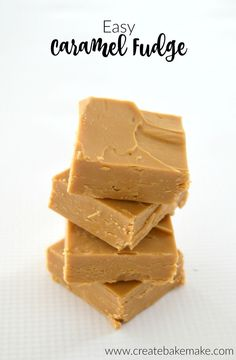 Easy Caramel Fudge Recipe - Easy Caramel Fudge Recipe – the perfect dessert to end your party with! Both regular and Thermomi - Easy Caramel Fudge Recipe, Fudge Caramel, Fudge Recipes, Dessert Recipes, Easy Fudge, Caramel Fudge Recipe Condensed Milk, Recipe For Fudge, Butterscotch Fudge, Easy Candy Recipes