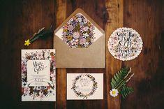 Handsome Hollow Wedding Ideas as seen on Ruffled Blog! Love this print design! #weddinginvites #styling #inspiration