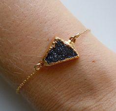 Druzy Bracelet in Black by 443Jewelry on Etsy