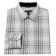 Van Heusen Studio Slim-Fit Spread-Collar Dress Shirt - Men