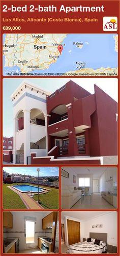 2-bed 2-bath Apartment in Los Altos, Alicante (Costa Blanca), Spain ►€89,000 #PropertyForSaleInSpain