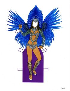 Carnaval Paper Dolls With Glitter By Tom Tierney  Dover