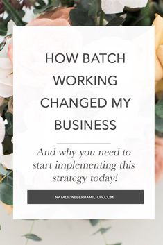 Ever feel like you are falling short on meeting your business goals. You want to create amazing blog posts 3 times a week and you can barely find time for one? I was feeling the same way, before I discovered the magic of batch working. Learn how to group together your tasks to stay focused and just get more done. If you are a small business owner or a creativepreneur this is a MUST! #girlbosstips #girlbosstools #productivity #howtobatchtasks #howtogetmoredone #creativepreneur #momboss