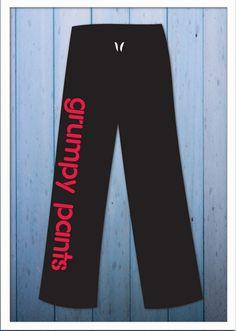 Grumpy Pants Sweats by DesignsFromJess on Etsy, $30.00