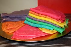 rainbow crepes recette