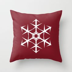 Snowflake Throw Pillow by Dawn OConnor - $20.00