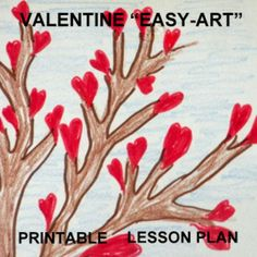 "VALENTINE ""EASY-ART"" PRINTABLE LESSON PLAN - TeachersPayTeachers.com  Imaginations and art skills are challenged through this fun seat work quiet activity. The final products make a great bulletin board as part of the learning takes place in observing the differences in the pictures and individual approaches to the SAME directions."