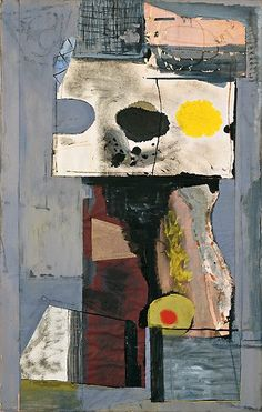Robert Motherwell  Personaggio (Autoritratto)  (Personage [Autoportrait]), 9 dicembre 1943  Collage di carta, guazzo e inchiostro su tavola  Peggy Guggenheim Collection
