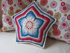 https://flic.kr/p/cbgPbC   Cute little Star Pillow     Diameter is 13 inch (33 cm) and in the middle the pillow is 2.5 inch (6 cm) thick.               For sale in my Etsy shop: www.etsy.com/shop/JustDo