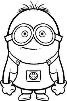 minion clipart black and white - Google Search