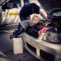 heck ya even sophias gonna work on cars swith daddy