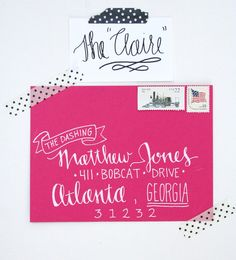 in love with this calligraphy!! Hand Addressed Envelopes