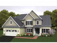 Eplans Colonial House Plan - Two Story Great Room - 2256 Square Feet and 3 Bedrooms from Eplans - House Plan Code HWEPL75159