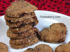 This dog biscuit recipe uses the herb chamomile, which has calming effects, so this calming biscuit is good for dogs who are high strung and overly active.