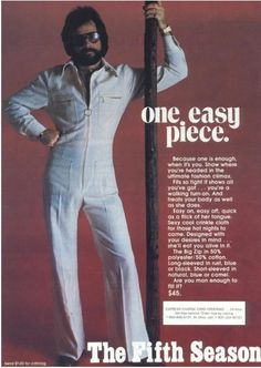 "1970s Men's Jumpsuits... ""The ultimate fashion climax"" =D"