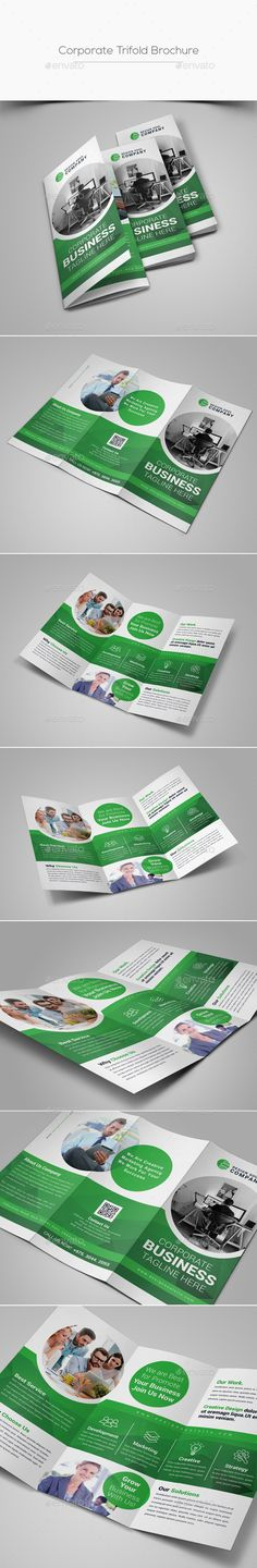 Trifold Brochure Template PSD