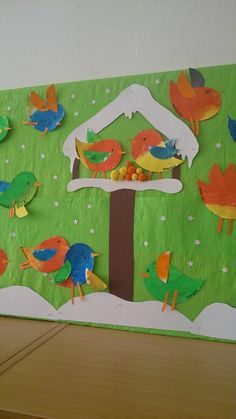 Winter classroom door ideas learning Ideas for 2019 New Year's Crafts, Bird Crafts, Hobbies And Crafts, Bastelarbeit Winter, Winter Theme, Winter Art Projects, Winter Project, Art Plastic, January Crafts