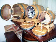 Wine Barrel Wall Mounted Drink Dispenser Wine