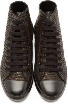 0f9286e7f4 Christian Peau Black Lizard High-Top Sneakers Men Looks