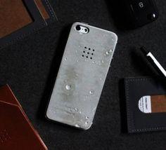 Concrete iPhone Case - http://www.gadgets-magazine.com/concrete-iphone-case/