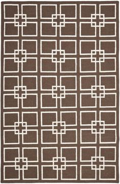 Displaying a geometric, interlocking design, Martha Stewart's Square Dance Tilled Soil Brown rugs are perfect in any contemporary or traditional home setting. Originating from India and crafted from flat woven wool and banana silk, the Square Dance Tilled Soil Brown rugs are a beautiful textured addition to Safavieh transitional rugs. Martha Stewart is an iconic American designer, with a stylish eye for home design…